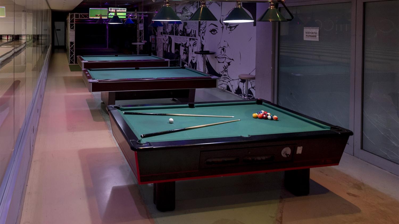 Cosmico Bowling, sala biliardi